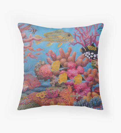 Sulawesi Reef Throw Pillow