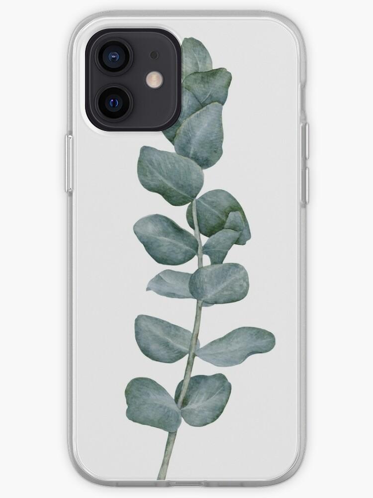 Plante moderne Eucalyptus, art scandinave minimaliste | Coque iPhone
