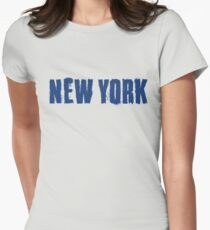 New York Trash Font Women's Fitted T-Shirt