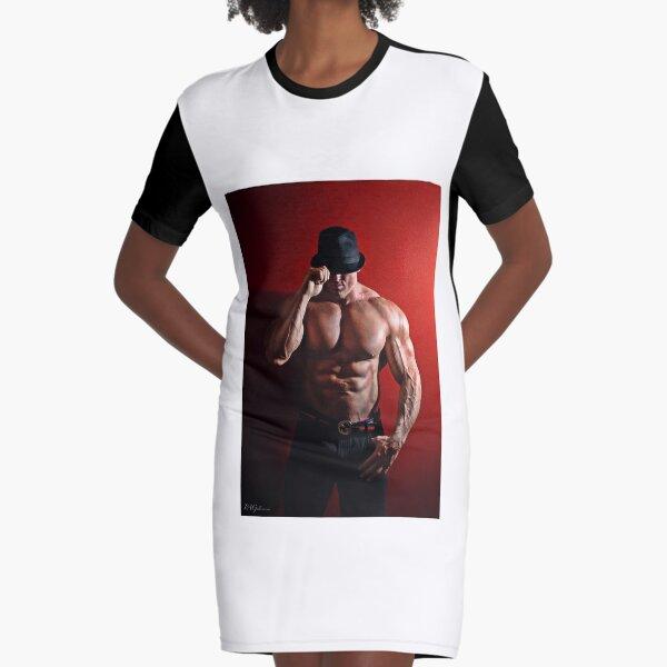 Fedora Graphic T-Shirt Dress