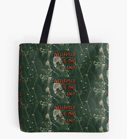 Wellsville is the shit map Tote Bag