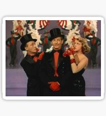 White Christmas characters Sticker