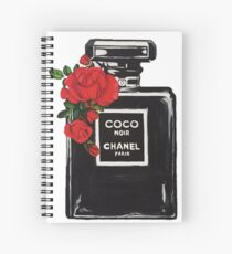 Perfume Bottle Flowers Spiral Notebook