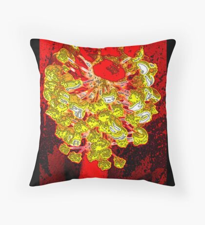 Inflamed stamin Throw Pillow