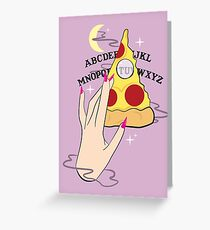 Ouija Pizza Greeting Card
