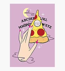 Ouija Pizza Photographic Print