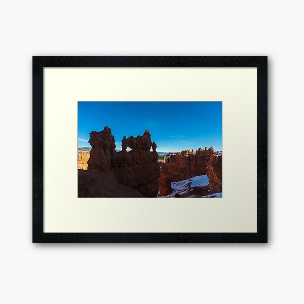 Bryce Canyon Hoodoos and Windows Framed Art Print