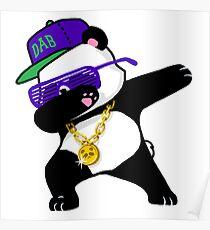 Dubbing funny panda Poster