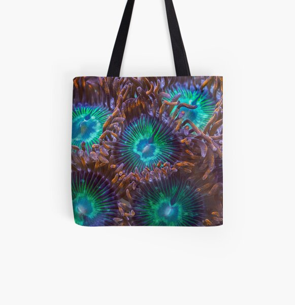 Zoanthids All Over Print Tote Bag