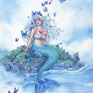 Blue Morpho Butterfly Mermaid by meredithdillman