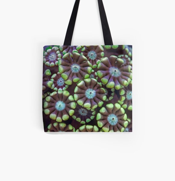 Alveopora coral All Over Print Tote Bag