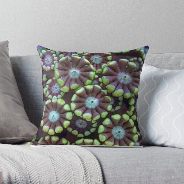 Alveopora coral Throw Pillow