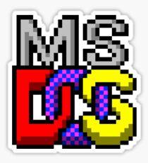msdos Sticker
