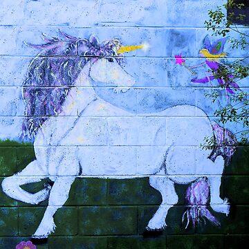 Unicorn Mural.. by FaeryHuggles