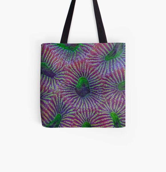 Favites coral All Over Print Tote Bag