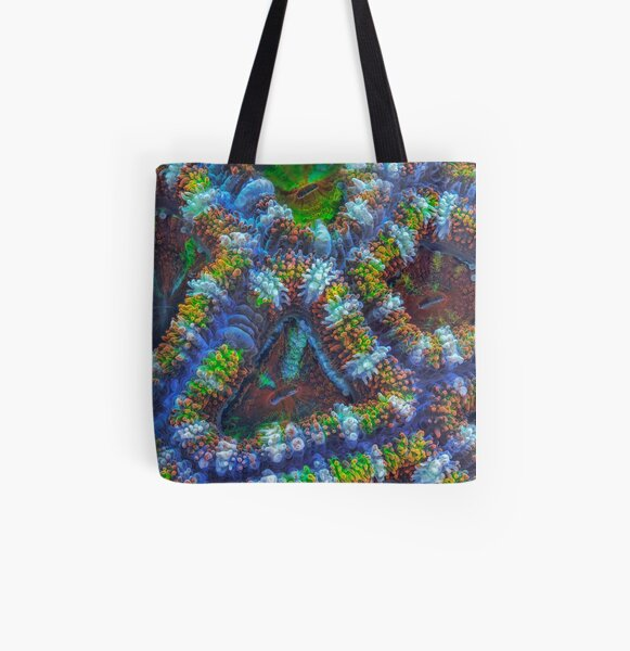 Acanthastrea coral All Over Print Tote Bag