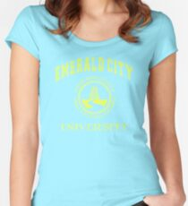 Emerald City University (Yellow) Women's Fitted Scoop T-Shirt