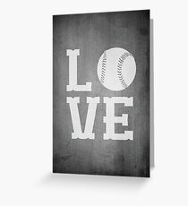 Baseball Love 2 Greeting Card