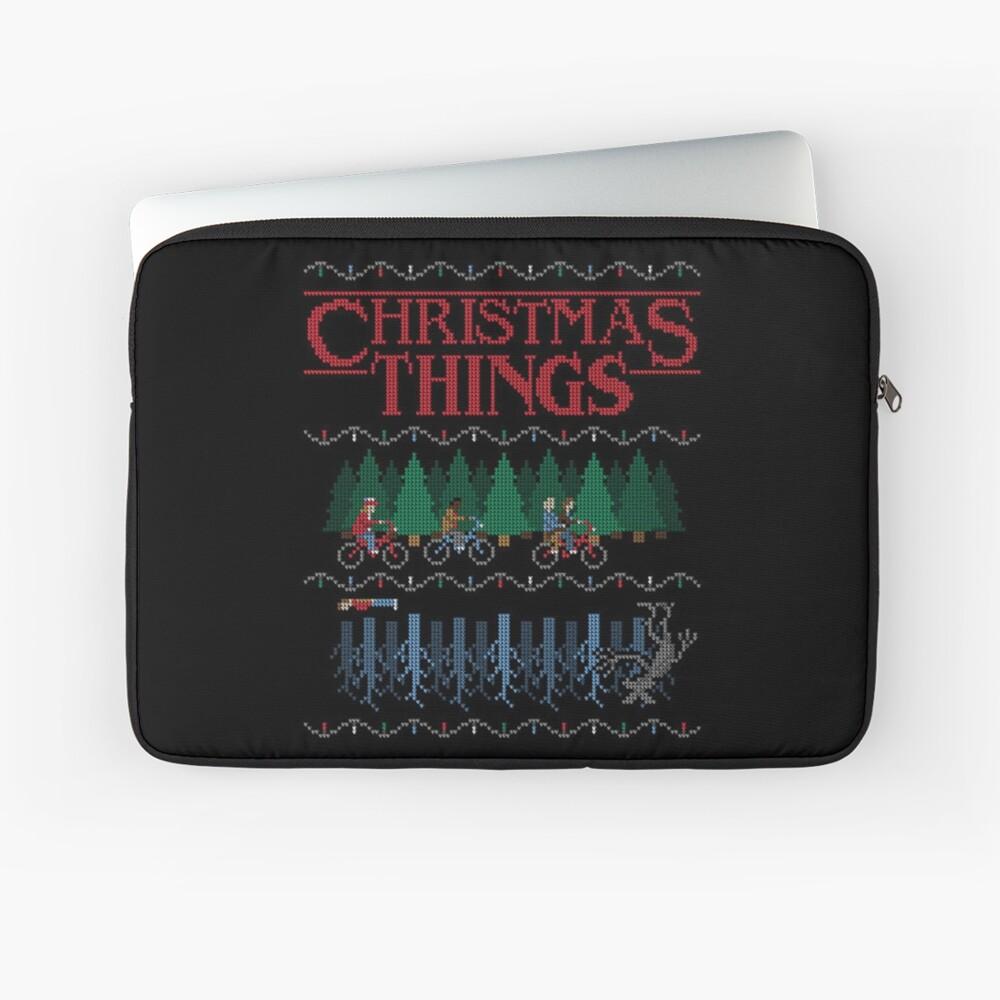 Stranger Things Christmas Sweater.Stranger Things Ugly Christmas Sweater Style Laptop Sleeve