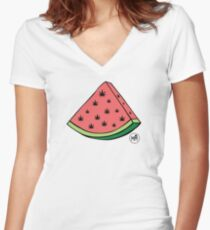 Weedmelon Women's Fitted V-Neck T-Shirt