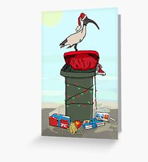 Bin Chicken Hits The Beach for Xmas Greeting Card