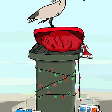 Bin Chicken Hits The Beach for Xmas by strayastickers
