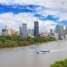 Panoramic Brisbane by Keith G. Hawley