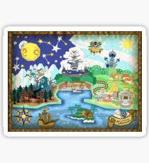 Pegatina Mapa de papel de Mario TTYD.