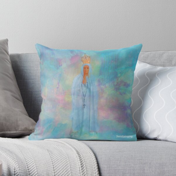 Blessed Mother Mary VIEW LARGER..THANK YOU Throw Pillow