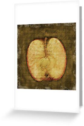 Apple Halved by Rene Hales