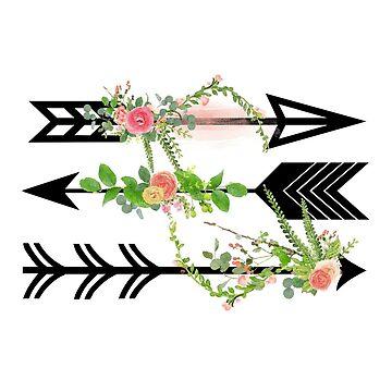 Watercolour floral Arrows by NixieNoo