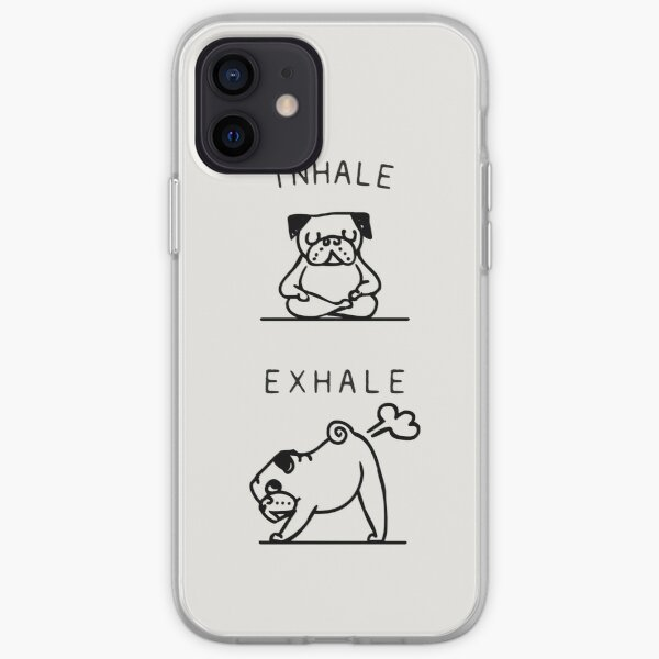 Inhale Exhale Pug iPhone Soft Case