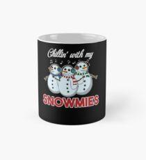 Chillin With My Snowmies Christmas Homie Pun Gift Mug