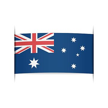Flag of Australia. Element for infographics. by staselnik