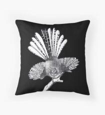 Piwakawaka Fantail Pointillism Henna Throw Pillow
