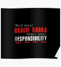 With great Gracie Barra comes great responsibility Poster