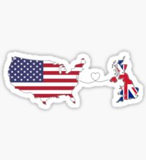 USA - UK | Long Distance Love Sticker