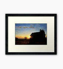Love came down ...  Framed Print