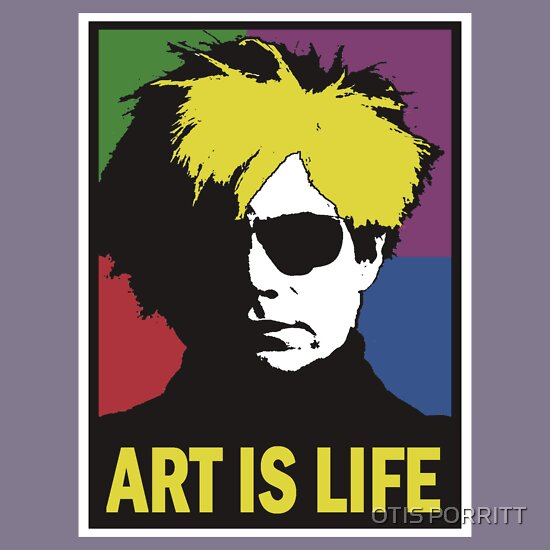TShirtGifter presents: ANDY WARHOL-ART IS LIFE