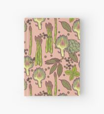 spring asparagus Hardcover Journal