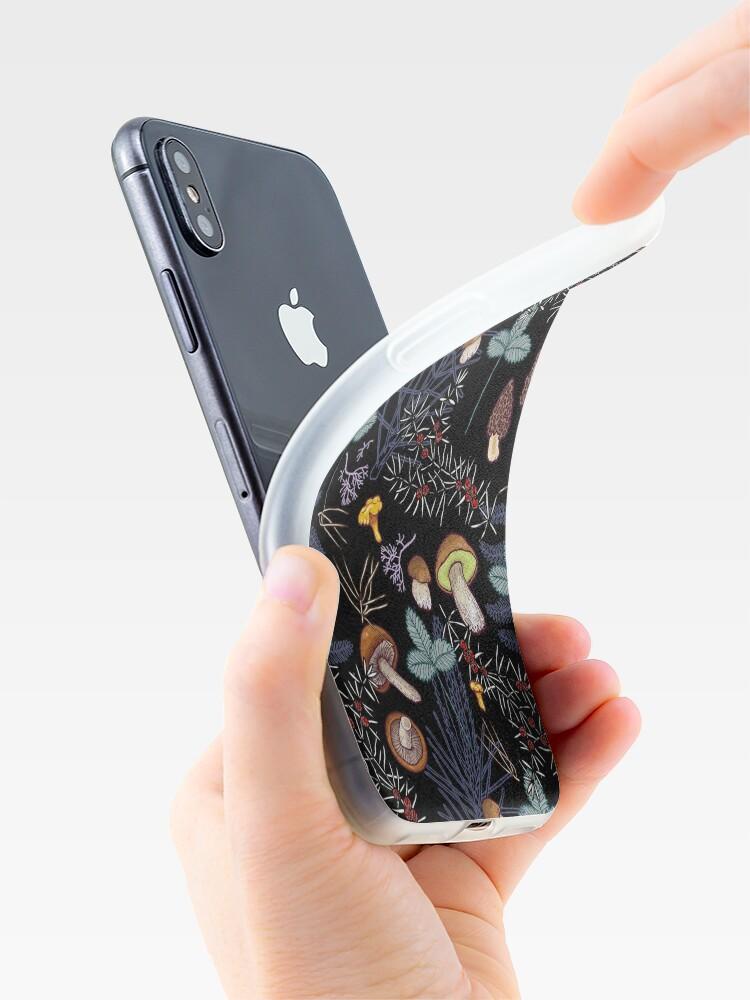 Alternate view of dark wild forest mushrooms iPhone Case