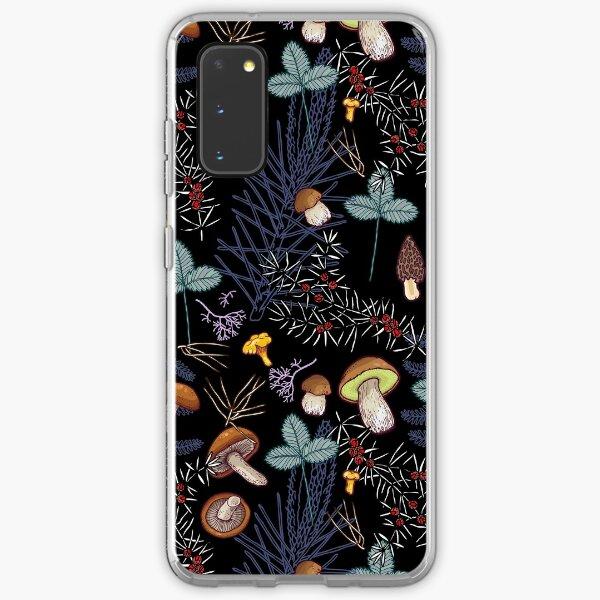 dark wild forest mushrooms Samsung Galaxy Soft Case