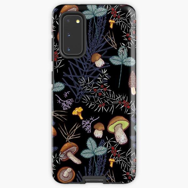dark wild forest mushrooms Samsung Galaxy Tough Case