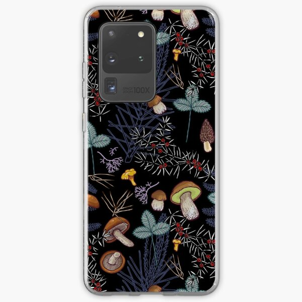 dark wild forest mushrooms Samsung Galaxy Soft Case