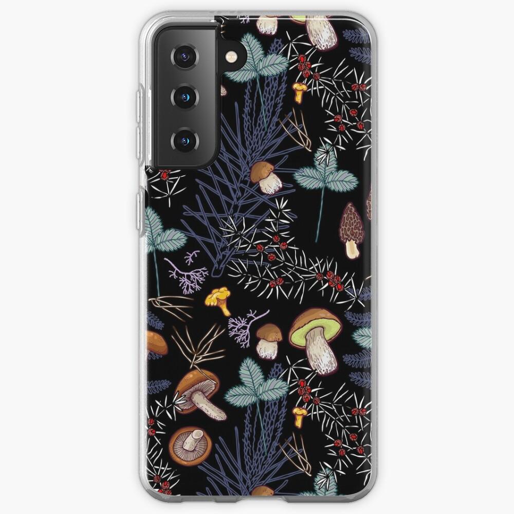 dark wild forest mushrooms Case & Skin for Samsung Galaxy
