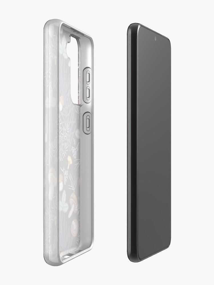 Alternate view of dark wild forest mushrooms Case & Skin for Samsung Galaxy