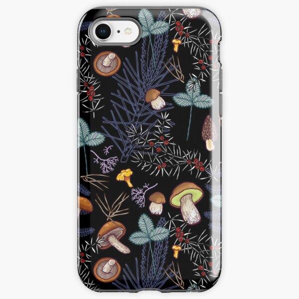 dark wild forest mushrooms iPhone Tough Case