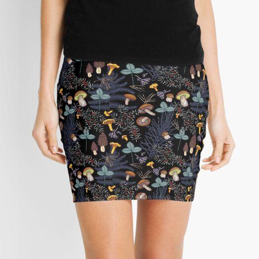 dark wild forest mushrooms Mini Skirt