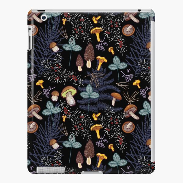 dark wild forest mushrooms iPad Snap Case