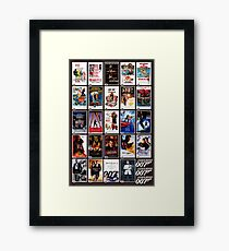 The James Bond Movies  Framed Print